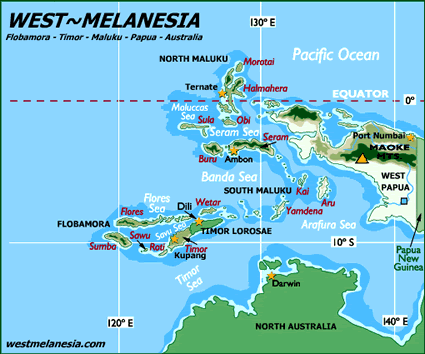 Map of Tutunohan, Aputai in Indonesia