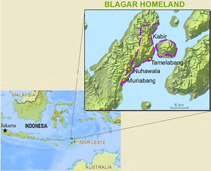 Map of Belagar, Tereweng in Indonesia