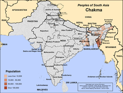 Map of Chakma in India