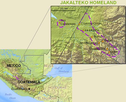 Map of Jacalteco in Mexico