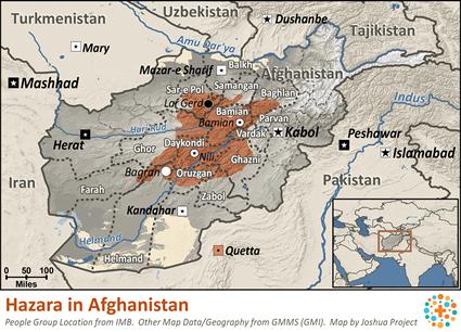 Afghanistan Map Hazarajat