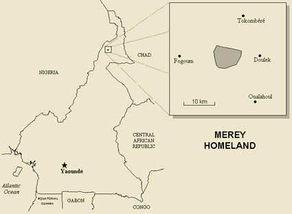 Map of Mere in Cameroon