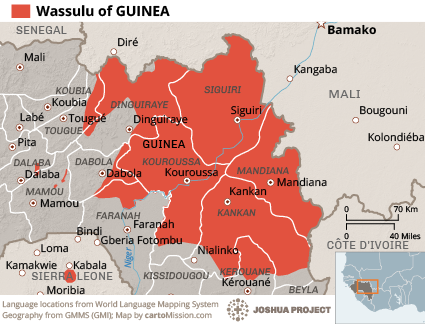 Map of Wassulu in Guinea