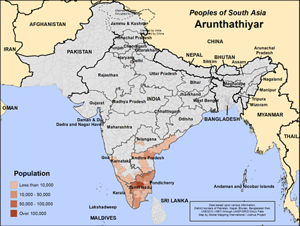 Map of Arunthathiyar in India