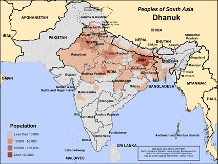 Map of Dhanuk in India