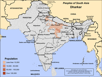 Map of Dharkar in India
