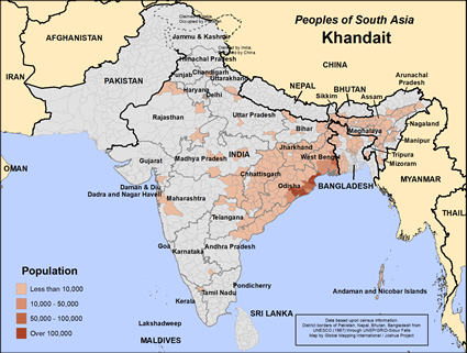 Map of Khandait in India