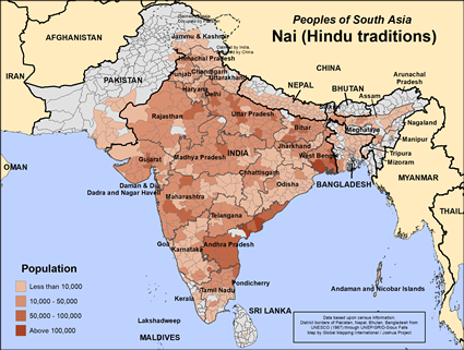 Map of Nai (Hindu traditions) in Nepal