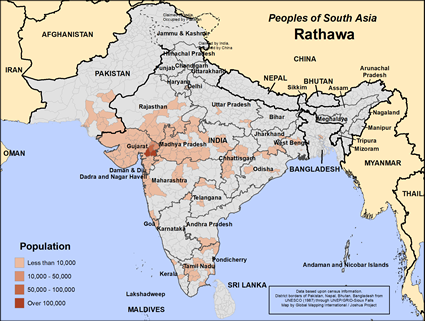 Map of Rathawa in India