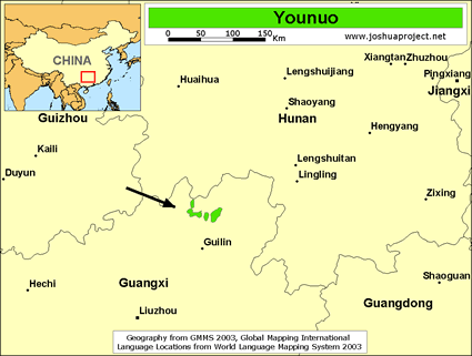 Map of Younuo in China