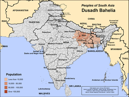 Map of Dusadh Bahelia in India