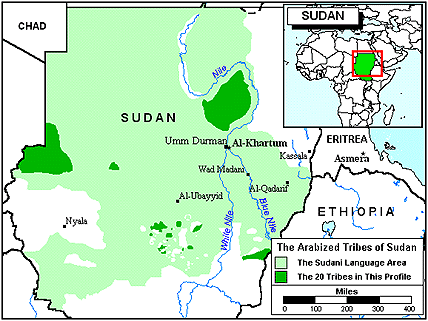 Burun, Arabized of Sudan map