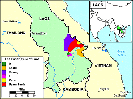 Ir of Laos map