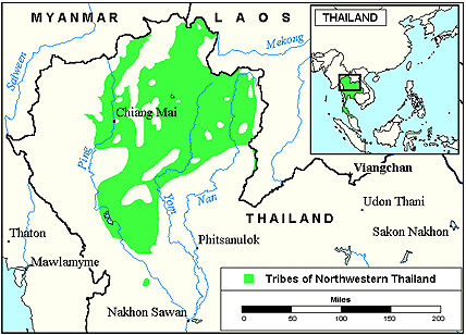 Saek, Sek of Thailand map