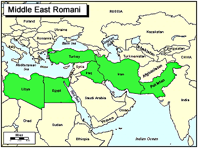 Romani, Vlax of Croatia map