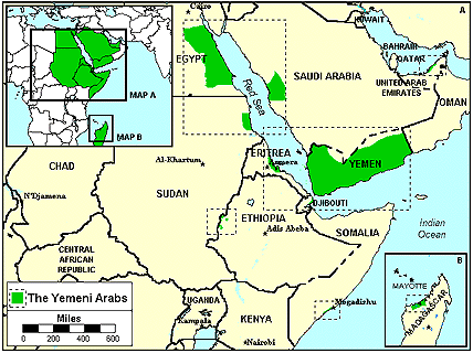 Arab, Yemeni of Yemen map