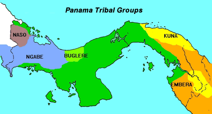 Embera-Saija of Panama map