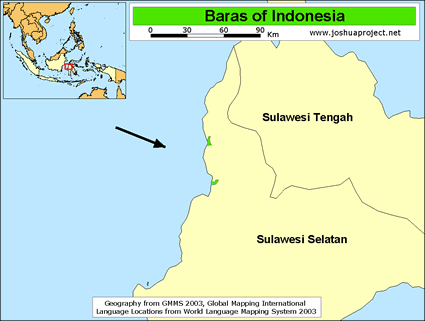Baras of Indonesia map