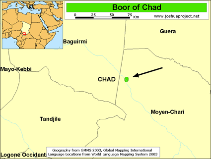 Boor of Chad map