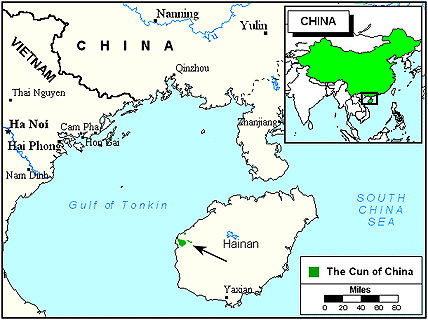 Cun of China map
