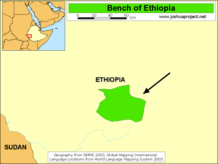 Bench of Ethiopia map