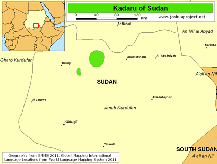 Kadaru of Sudan map