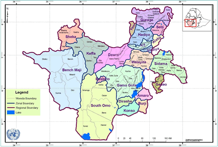 Koore of Ethiopia map