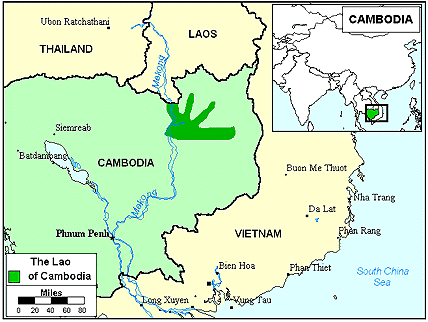 Lao, Laotian Tai of Cambodia map