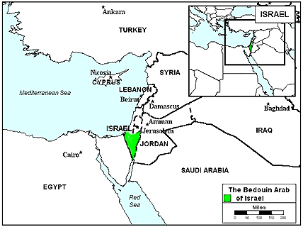 Bedouin of Israel map