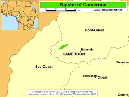 Ngishe of Cameroon map