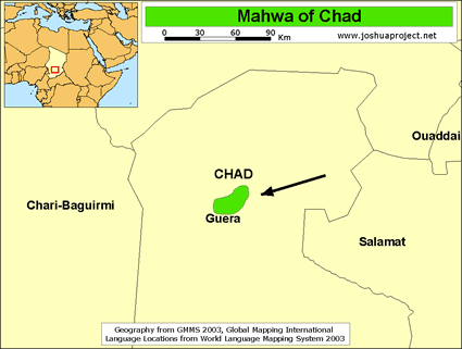 Mahwa of Chad map