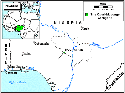 Ogori-Magongo of Nigeria map