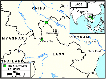 Sila of Laos map