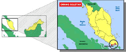 Orang Seletar of Singapore map