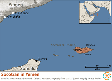 Socotran of Yemen map