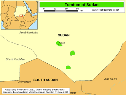 Tumtum of Sudan map