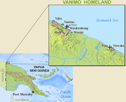Vanimo, Manimo of Papua New Guinea map