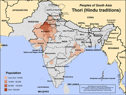Thori of Pakistan map
