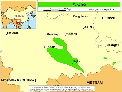 A Che of China map