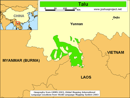 Talu of China map
