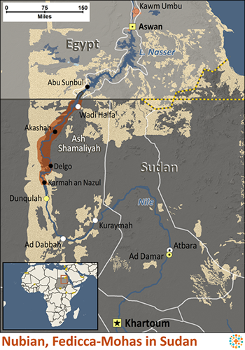 Nubian Empire Map http   www joshuaproject net people-profile php peo3    Nubian Empire Map